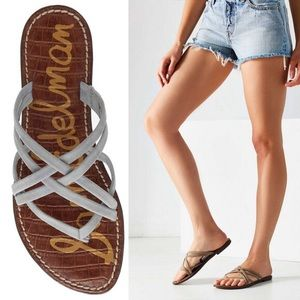 Sam Edelman | Georgette Grey Strappy Flat Sandals
